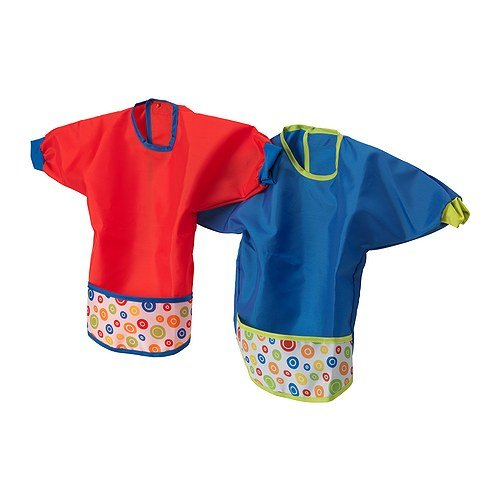 IKEA Baby Bib Set with Sleeves-Kladd Prickar