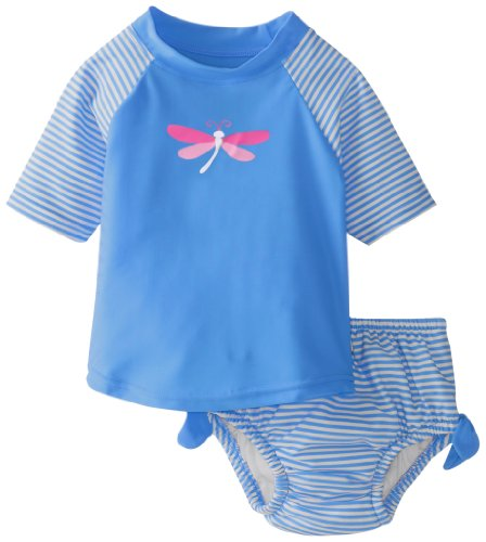 i play. Baby-Girls Infant Ultimate Swim Diaper 2 Piece Tie Rashguard Set
