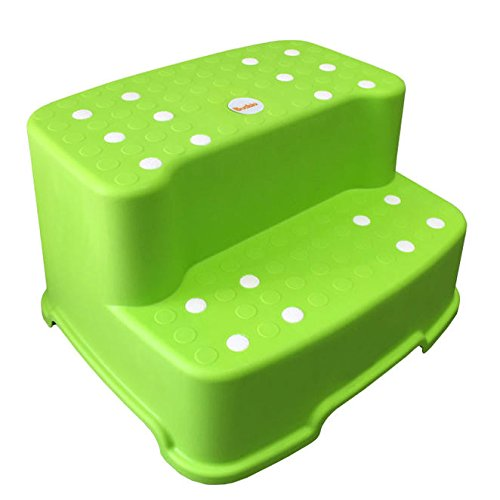 Tenby Living Extra-Wide Extra-Tall Jumbo Step Stool with Removable Non-Slip Caps & Rubber Grips