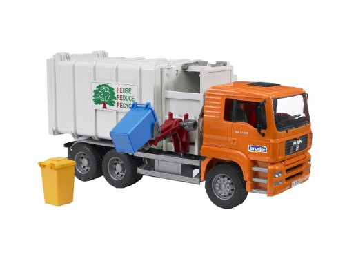 Bruder Toys Man Side Loading Garbage Truck