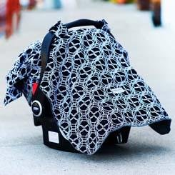 Carseat Canopy Car Seat Cover w/Attachment Straps