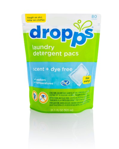 Dropps Laundry Detergent Pacs (Scent + Dye Free, Fresh Scent, or Baby)