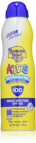Banana Boat UltraMist Kids MAX Protect & Play Clear Spray Sunscreen SPF 110