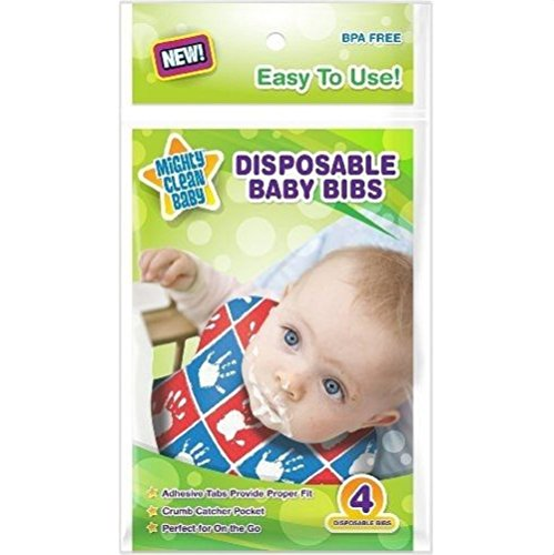 Mighty Clean Disposable Baby Bibs