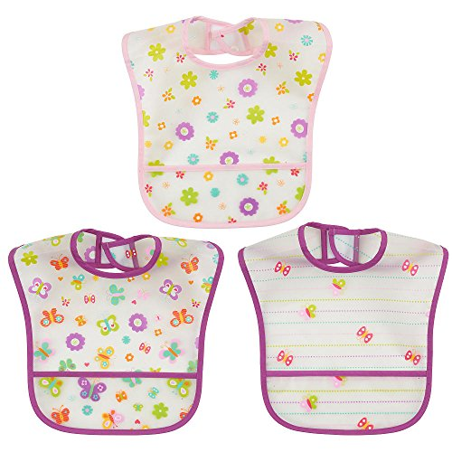 Koala Baby Large Feeder EZ Wipe Bibs