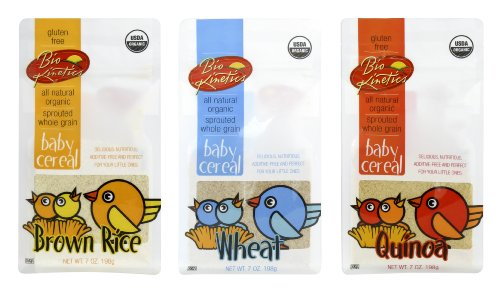 Bio-Kinetics Organic, Sprouted Baby Cereal Assortment: Quinoa, Rice, Wheat