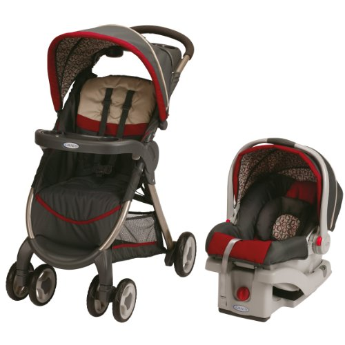 Graco FastAction Fold Click Connect Travel System with SnugRide Click Connect 30 Infant Car Seat