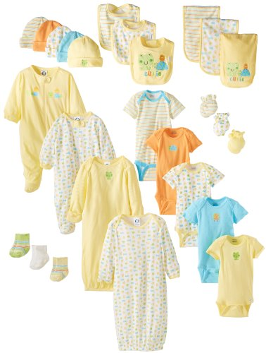 Gerber Newborn Unisex 26 Piece Essentials Gift Set