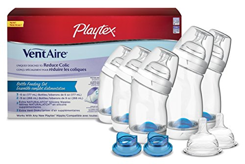 Playtex BPA Free VentAire Wide Bottle Newborn Starter Set
