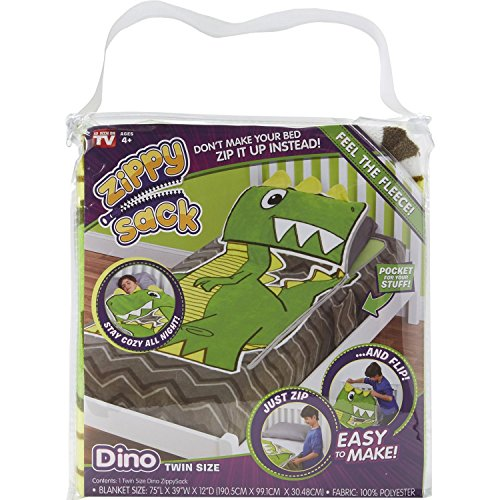 TECHNO SOURCE 12616 ZIPPY SACK DINO TWIN SIZE