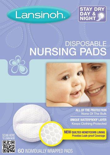 Amazon.com : Lansinoh Disposable Nursing Pads 60 Count Box : Nursing Bra Pads : Baby