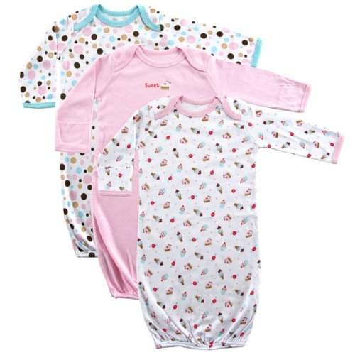 Luvable Friends Rib Knit Infant Gowns