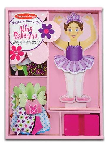 Melissa & Doug Deluxe 27-Piece Nina Ballerina Magnetic Dress-Up