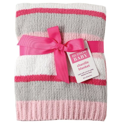 Hudson Baby Striped Chenille Blanket