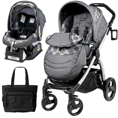 Peg Perego Book Plus Stroller Travel System with a Diaper Bag