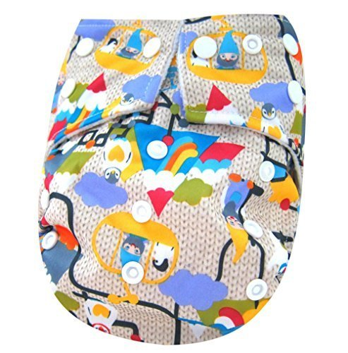 Kawaii Baby Printed Snap One Size Cloth Diaper