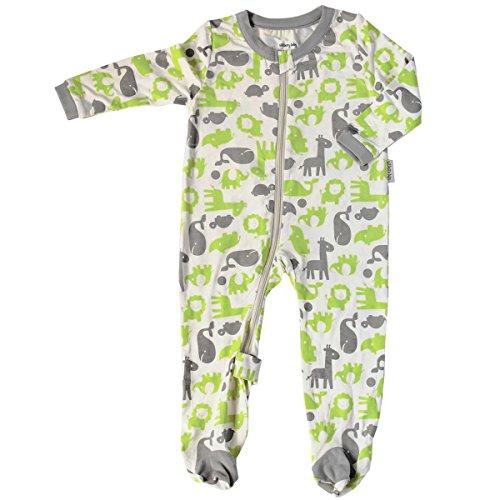 Silkberry Baby Bamboo Unisex-Baby Newborn Footie Sleeper Limey 0-3m