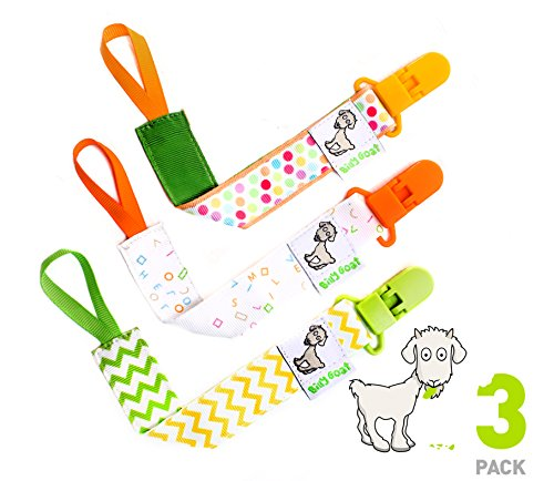 Billy Goat Baby Gear Pacifier Clip Holder Leash