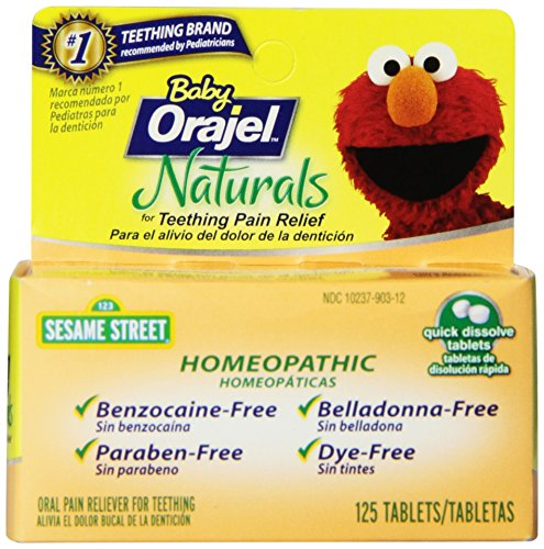 Orajel Baby Naturals Teething Tablets