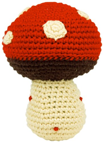 Dandelion Hand Crocheted Mushroom Pudgy Rattle