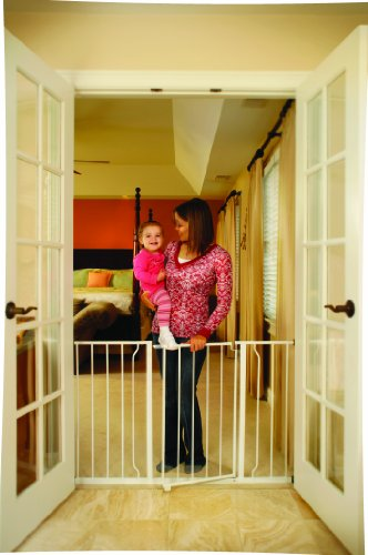 Regalo Easy Open Expandable 52 Inch Super Wide Walk Thru Gate