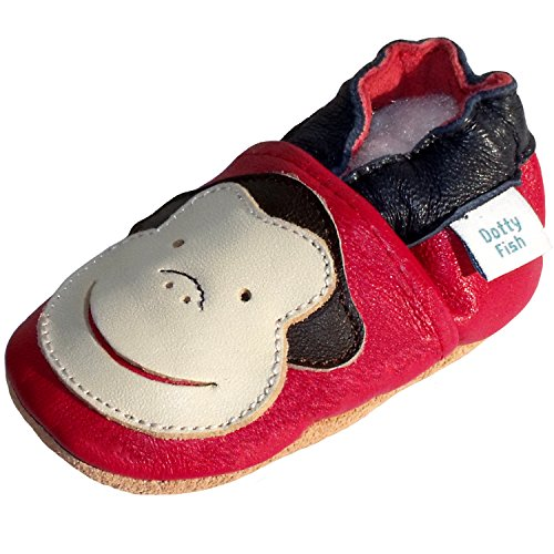 Dotty Fish Soft Leather Shoe with Suede Soles