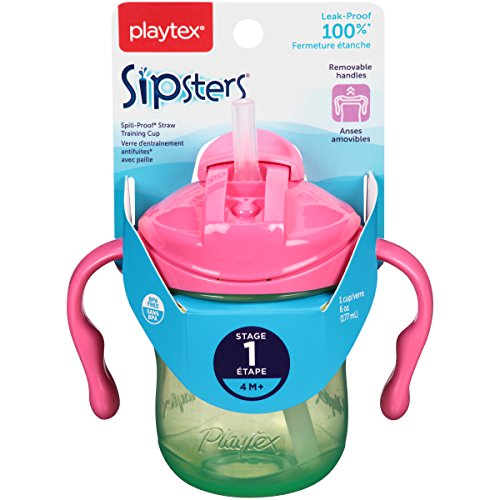Playtex Baby First Lil' Gripper Twist 'n Click Straw Trainer Cup