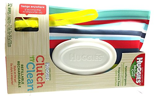 Huggies Natural Care Baby Wipes Clutch N Clean Carrying Case