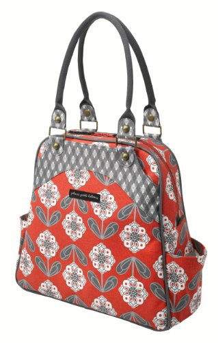 Petunia Pickle Bottom Organic Cotton Convertible Sashay Satchel Diaper Bag
