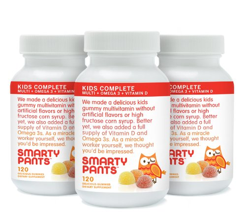 SmartyPants Children's Gummy Multivitamin with Omega-3 and Vitamin-D