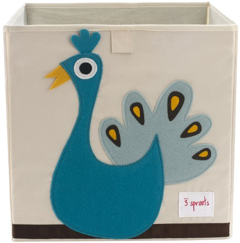 3 Sprouts Storage Box- Peacock