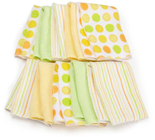 Spasilk 10 Pack Soft Terry Washcloth