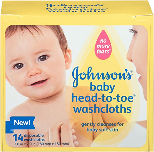 Johnson's Baby Head-to-Toe Disposable Washcloths