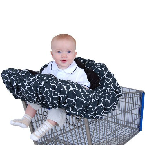 Floppy Seat Deluxe Velboa Shopping Cart and High Chair Cover with Messenger Bag