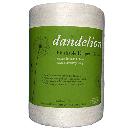Dandelion Diapers Flushable Diaper Liners,
