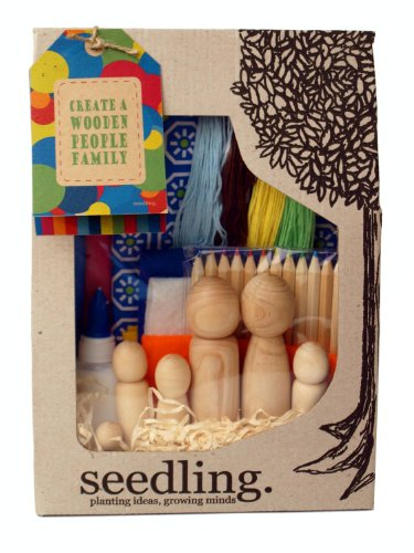 Seedling Create a Wooden People Family