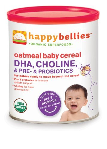 Happy Baby Organic Happybellies Oatmeal Cereal