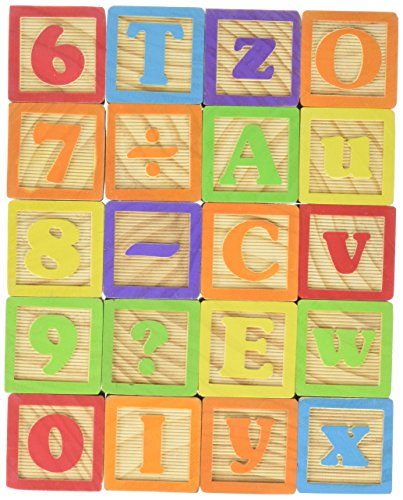 Maxim 45mm Wooden ABC Blocks, 40 Pieces
