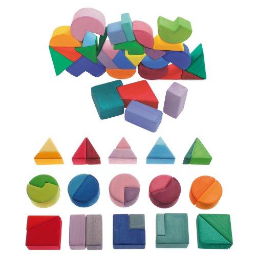 Grimm's Geometric Block Pairs Waldorf Set