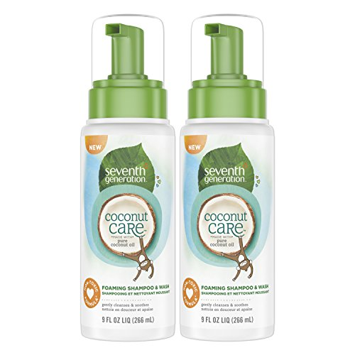 Seventh Generation Foaming Baby Shampoo & Wash with Nourishing Coconut Care