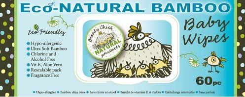 Broody Chick Eco-Natural Bamboo Baby Wipes