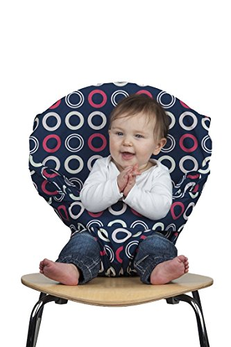 Totseat Chair Harness: The Washable and Squashable Travel High Chair in Blueberry