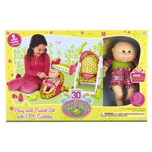 Cabbage Patch Kids 30 Year Play and Travel Set with CPK Cuddler