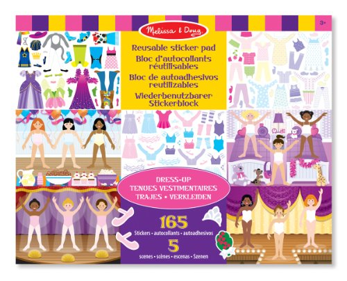 Melissa & Doug Dress-Up Reusable Sticker Pad