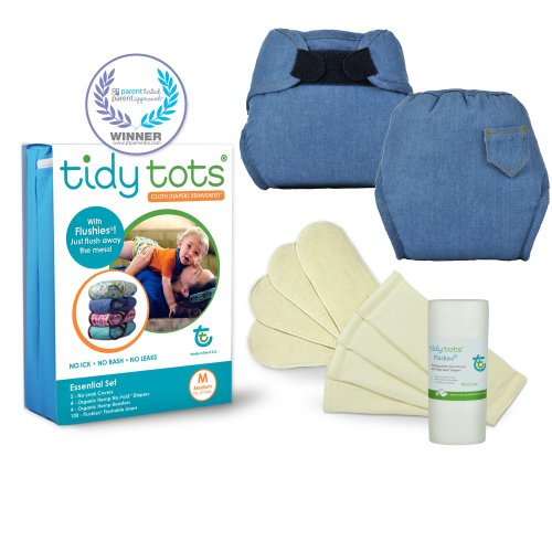 Tidy Tots Diapers Denim Essential Set