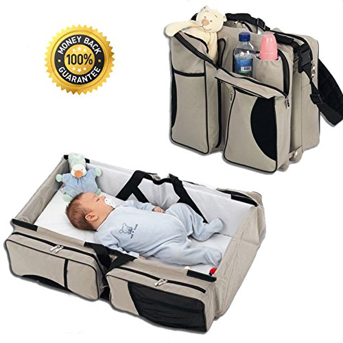 Boxum 3 in 1 Diaper Bag, Travel Bassinet & Change Station