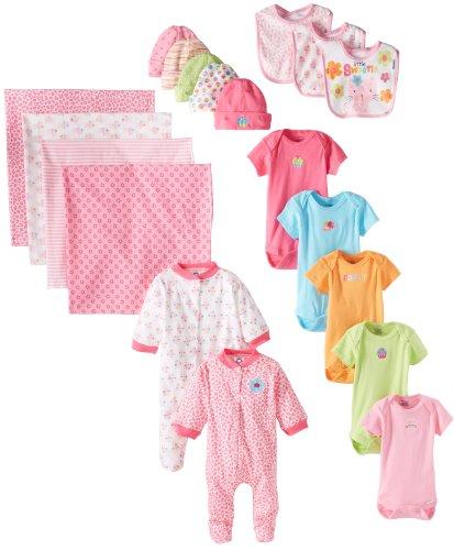Gerber Newborn Girl 19 Piece Essentials Gift Set
