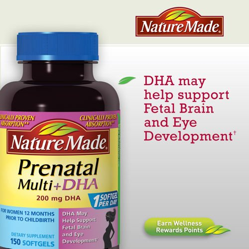 Nature Made Prenatal Multivitamins with DHA