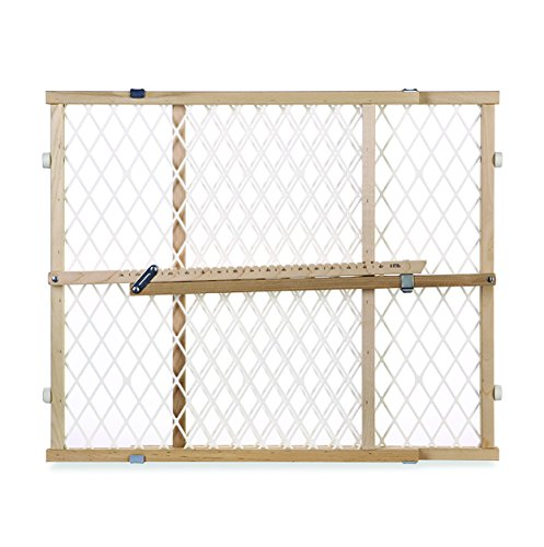 North States Pressure Mount Diamond Mesh Wood Gate