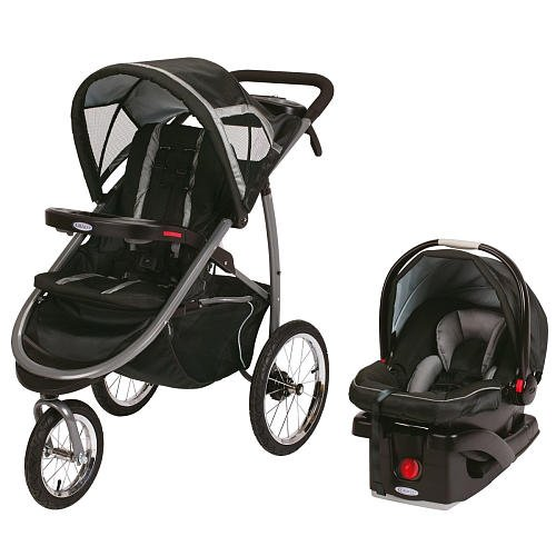 Graco Fastaction Fold Click Connect Jogger Travel System Stroller